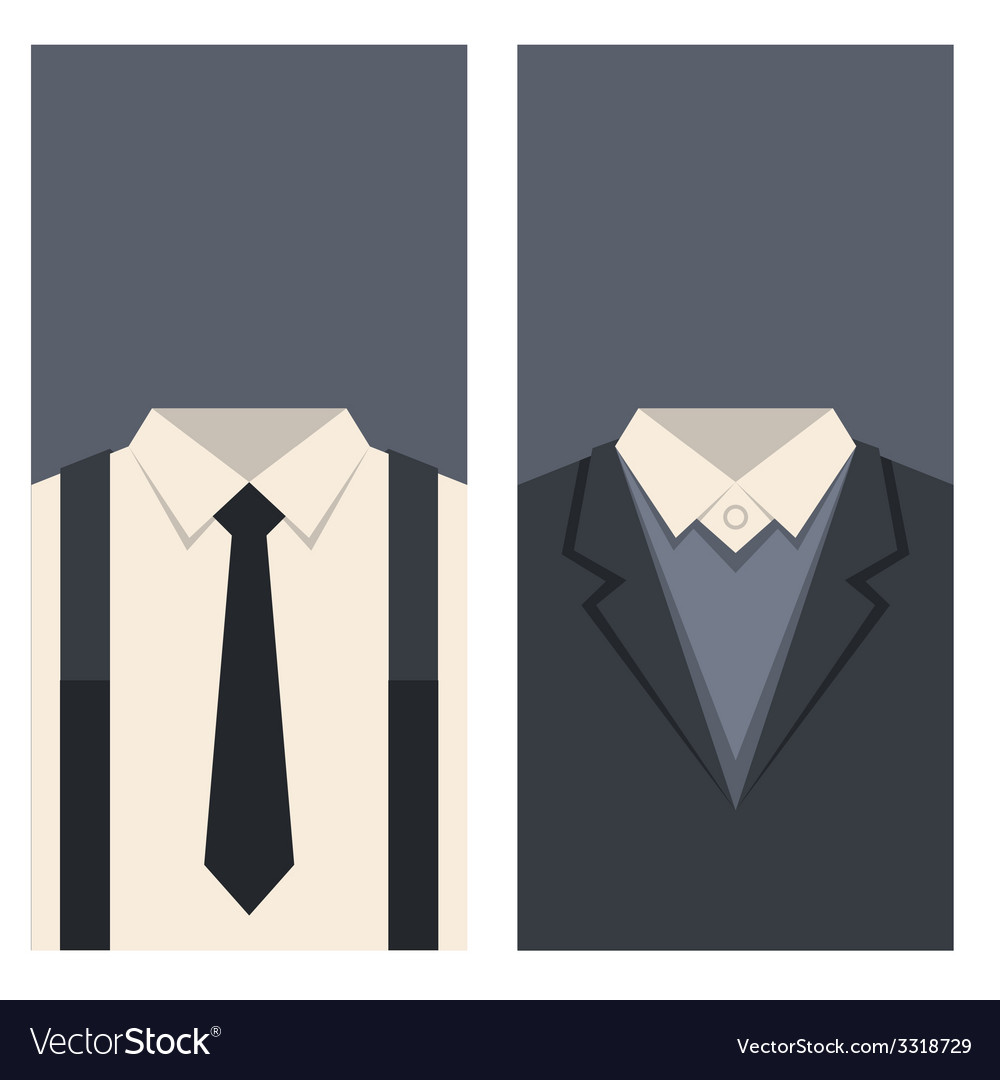 Business card with suits and ties design vector | Price: 1 Credit (USD $1)