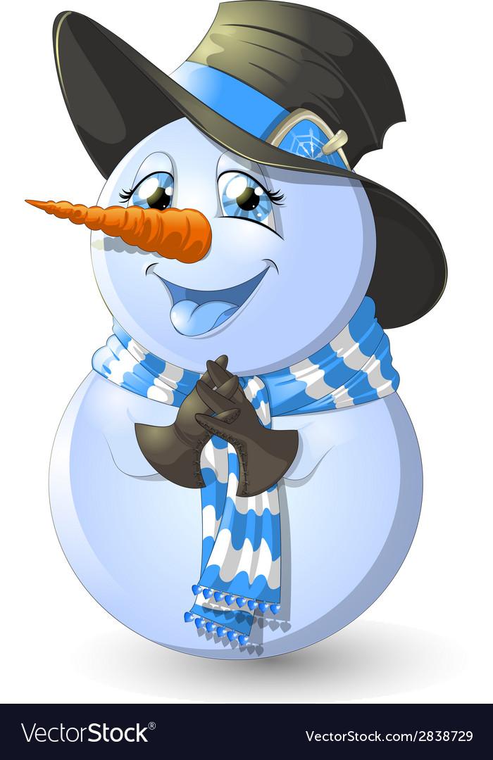 Christmas snowman vector | Price: 3 Credit (USD $3)