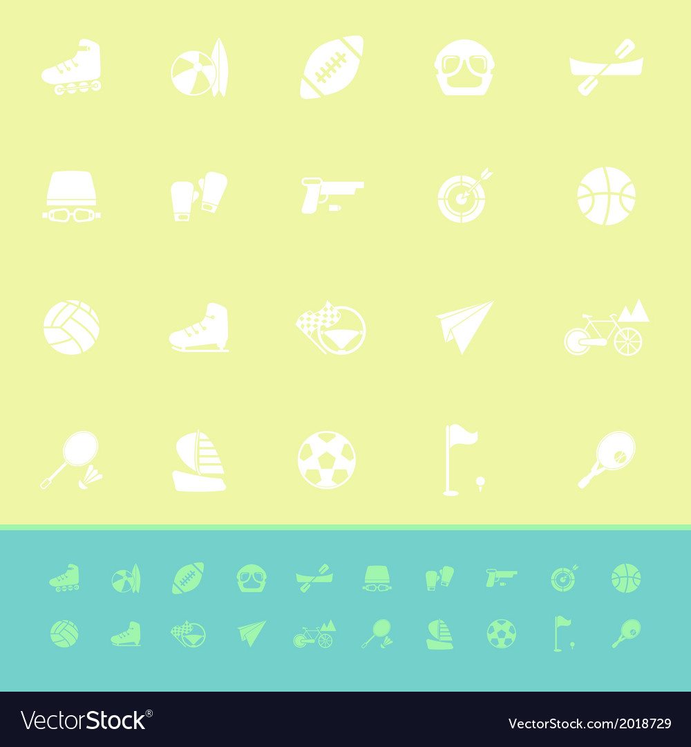 Extreme sport color icons on green background vector   Price: 1 Credit (USD $1)