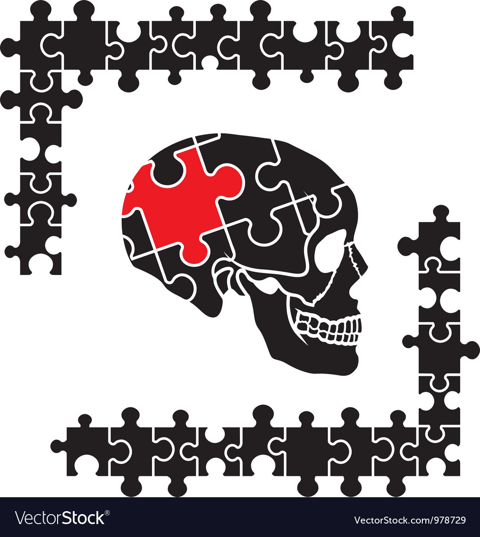 Puzzle skull vector | Price: 1 Credit (USD $1)