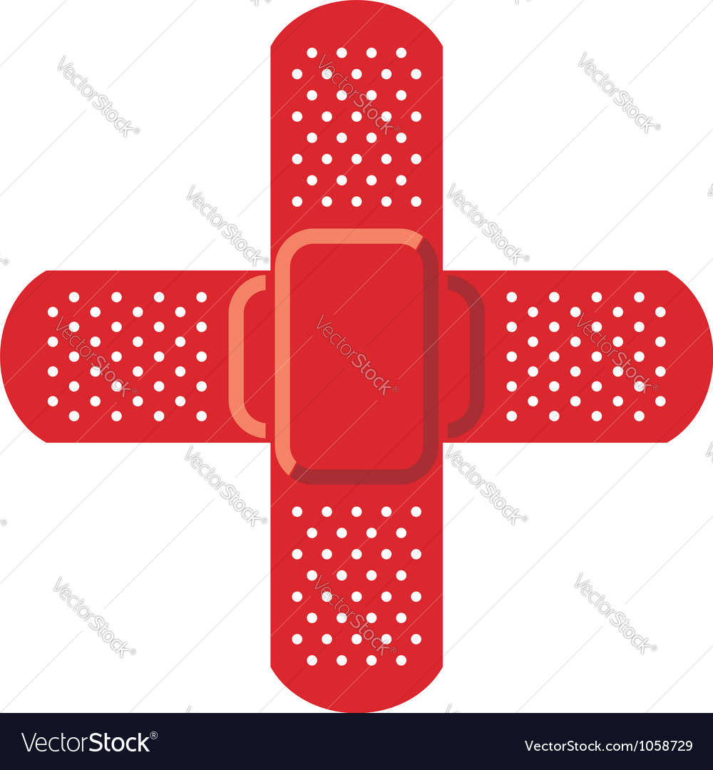 Red cross - adhesive bandage vector | Price: 1 Credit (USD $1)