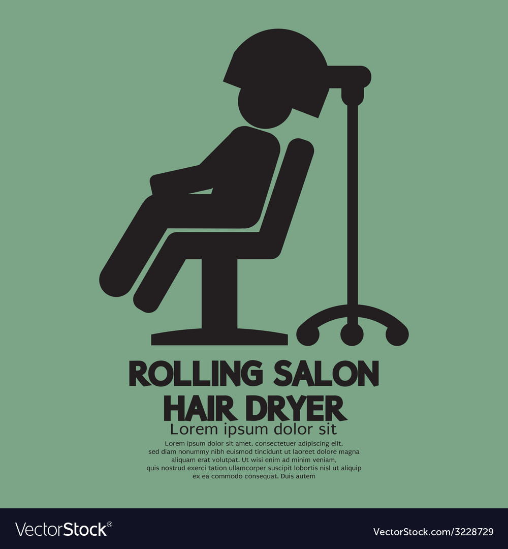 Rolling salon hair dryer vector | Price: 1 Credit (USD $1)