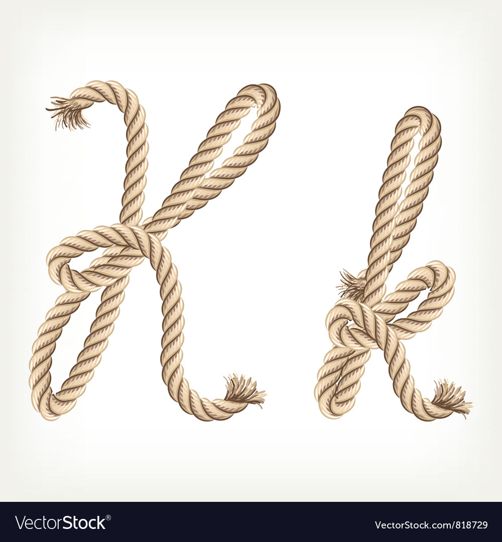 Rope alphabet letter k vector | Price: 1 Credit (USD $1)
