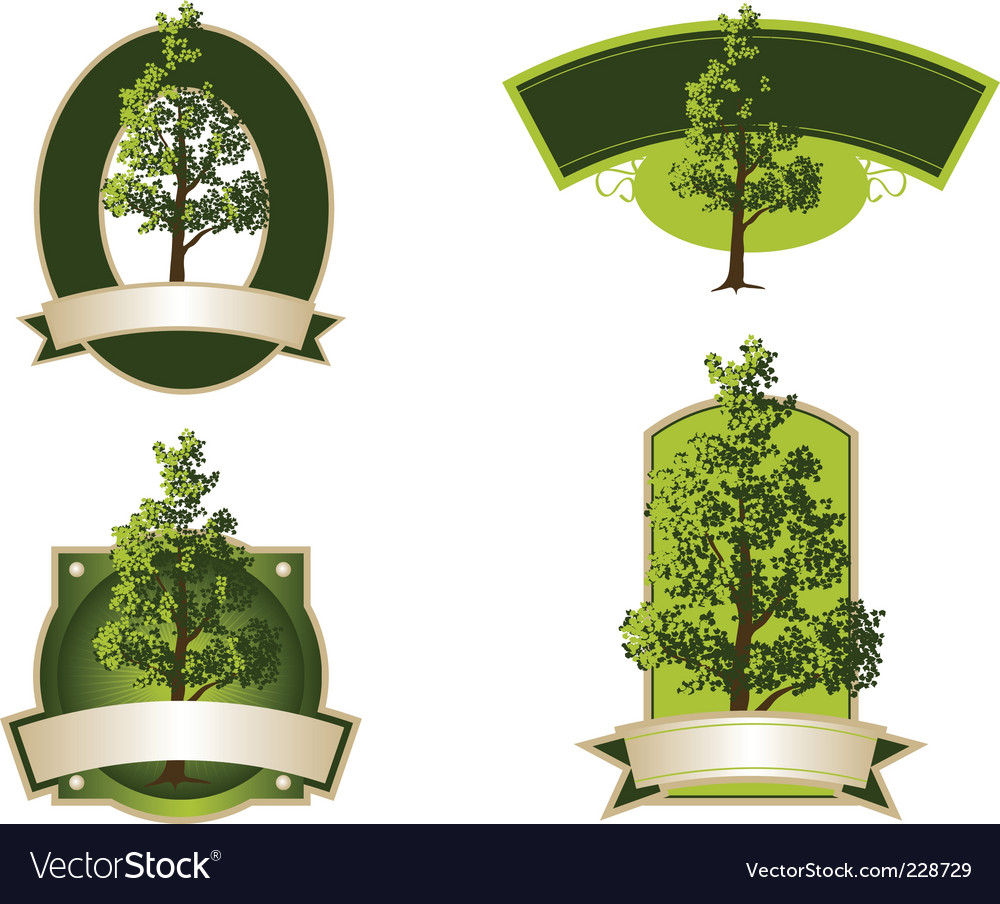 Tree labels vector | Price: 1 Credit (USD $1)