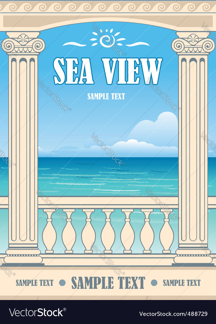 Wonderful sea view vector | Price: 1 Credit (USD $1)