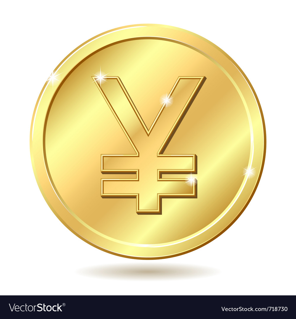Golden coin yen vector | Price: 1 Credit (USD $1)