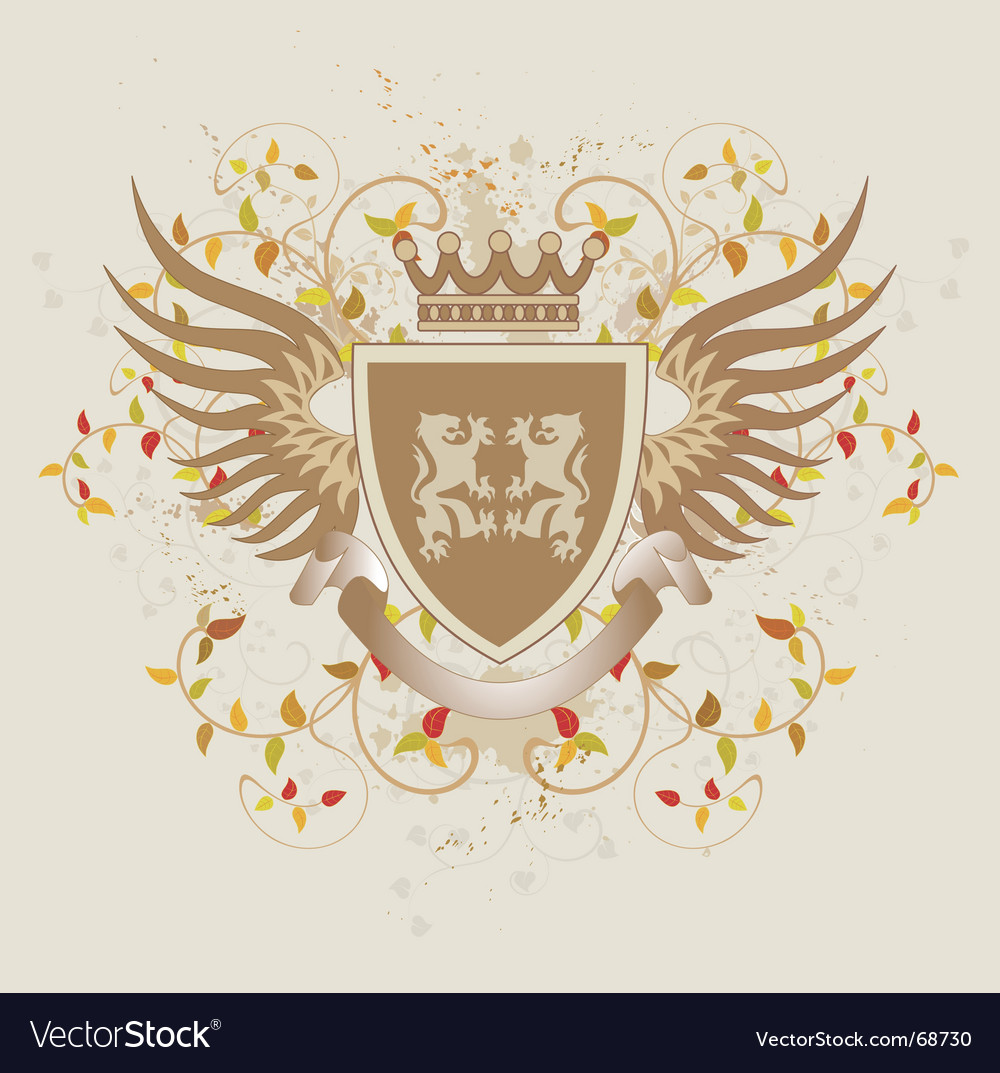 Grunge vintage shield with lions vector | Price: 1 Credit (USD $1)