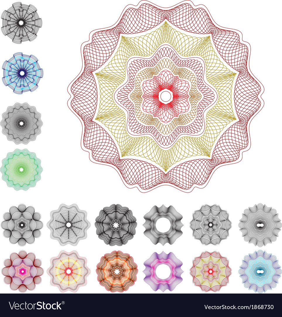 Guilloche rose v2 vector | Price: 1 Credit (USD $1)