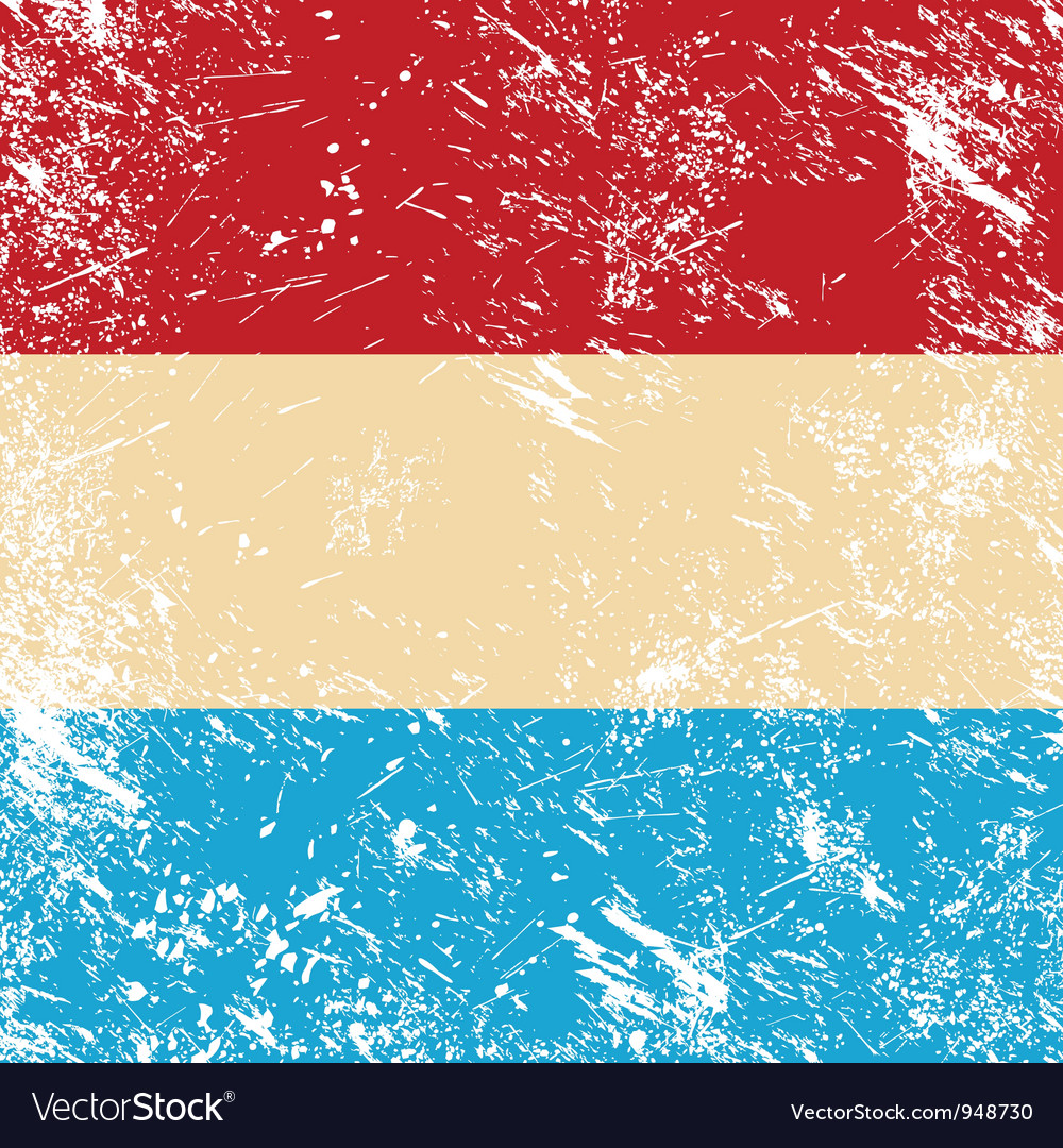 Luxembourg retro flag vector | Price: 1 Credit (USD $1)