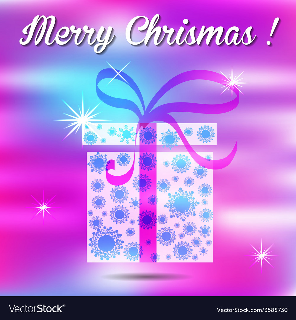 Merry christmas gift on a background vector | Price: 1 Credit (USD $1)
