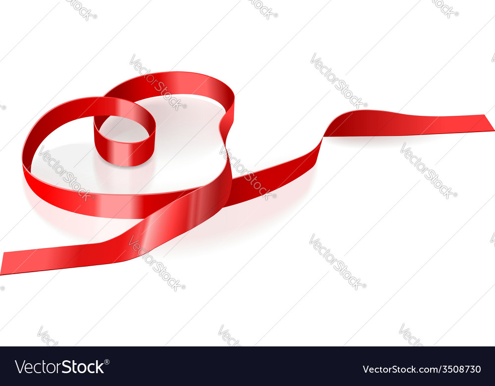 Ribbon in the form of heart vector | Price: 1 Credit (USD $1)