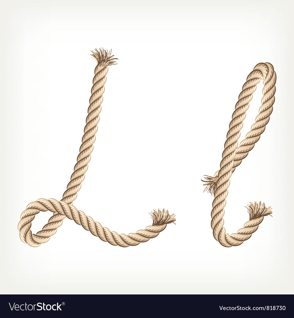 Rope alphabet letter l vector | Price: 1 Credit (USD $1)
