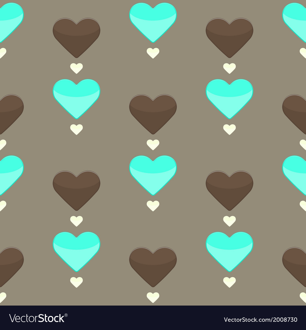 Seamless pattern with many colorful hearts vector | Price: 1 Credit (USD $1)