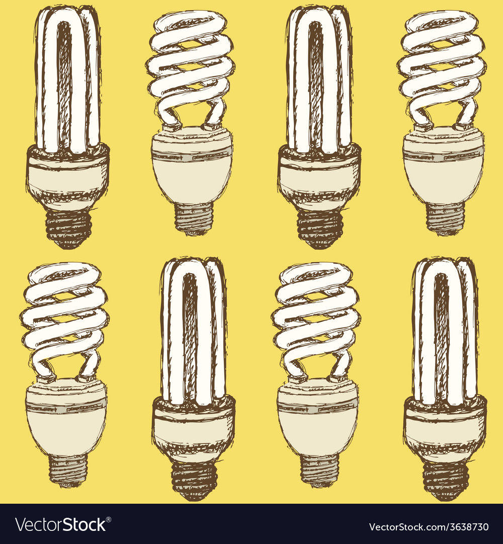 Sketch economic light bulb in vintage style vector | Price: 1 Credit (USD $1)