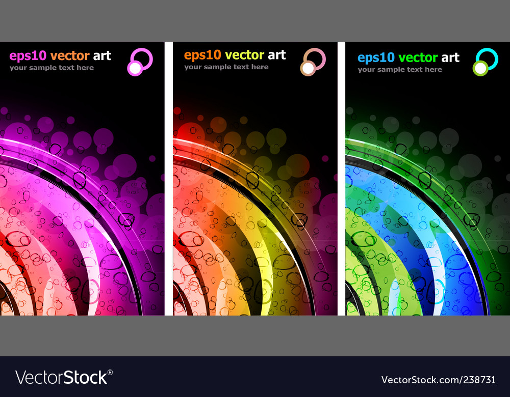 Abstract rainbow background vector | Price: 1 Credit (USD $1)