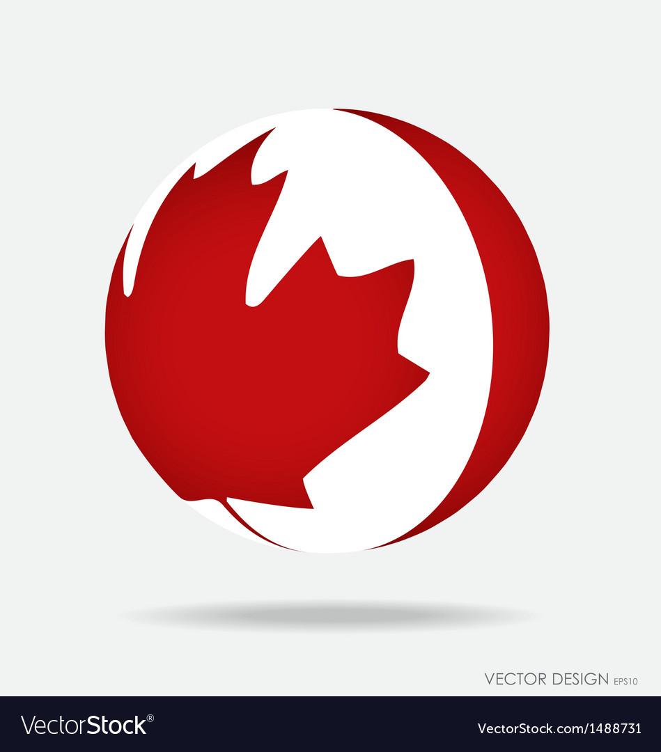 Canada flag vector | Price: 1 Credit (USD $1)