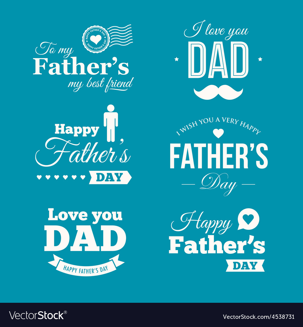 Fathers day logo vector | Price: 1 Credit (USD $1)