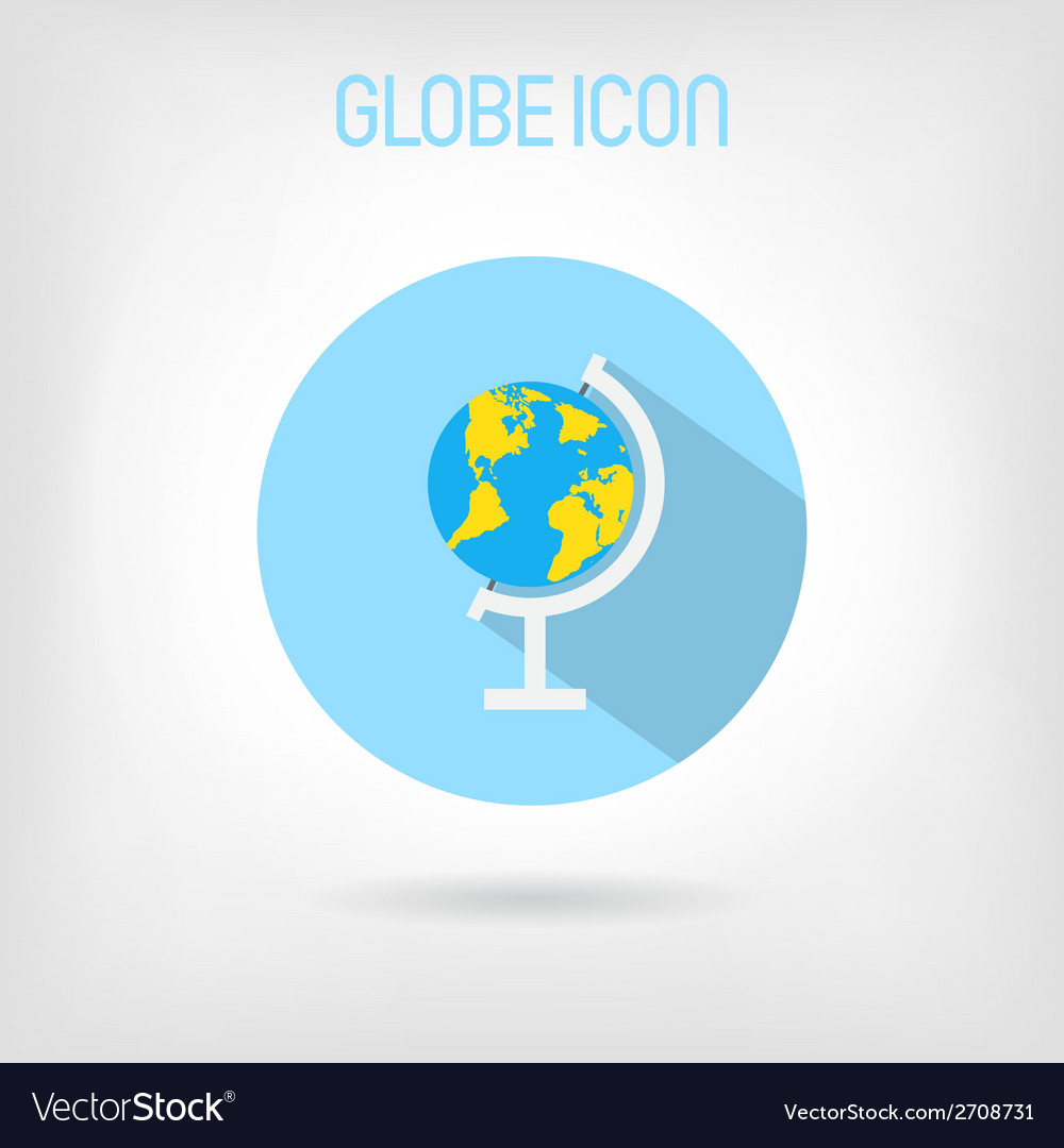 Flat-styled school globe icon vector | Price: 1 Credit (USD $1)
