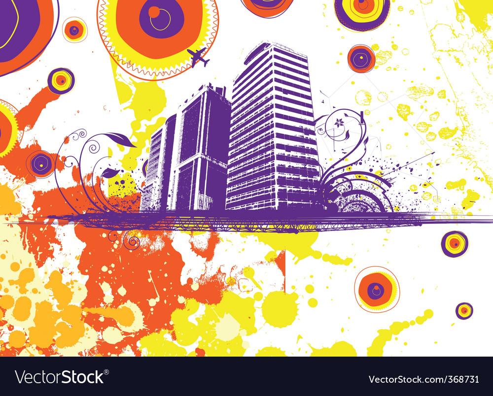 Grunge city vector | Price: 1 Credit (USD $1)