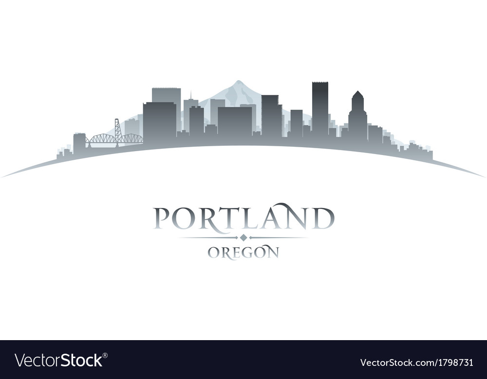 Portland oregon city skyline silhouette vector | Price: 1 Credit (USD $1)