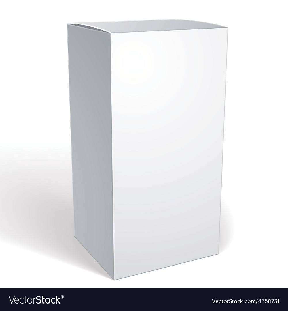 Realistic white package box for products put your vector | Price: 1 Credit (USD $1)