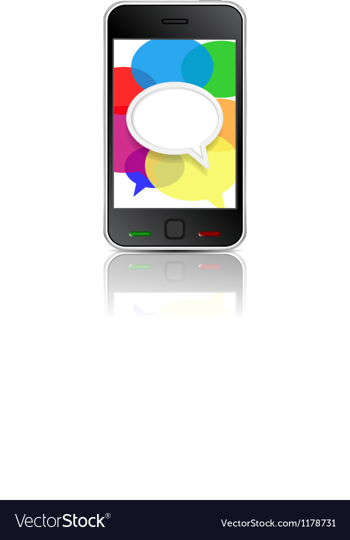 Smart phone message icon vector | Price: 1 Credit (USD $1)
