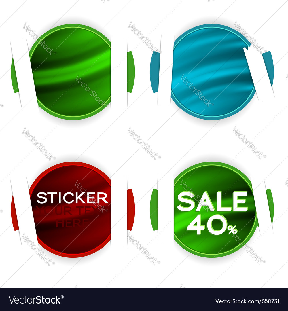 Stickers elements vector | Price: 1 Credit (USD $1)