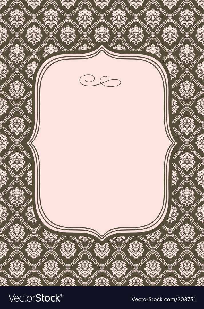 Wallpaper pattern and border vector | Price: 1 Credit (USD $1)