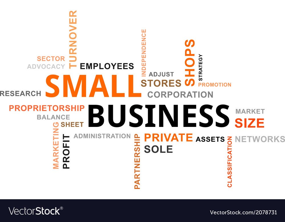 Word cloud small business vector | Price: 1 Credit (USD $1)