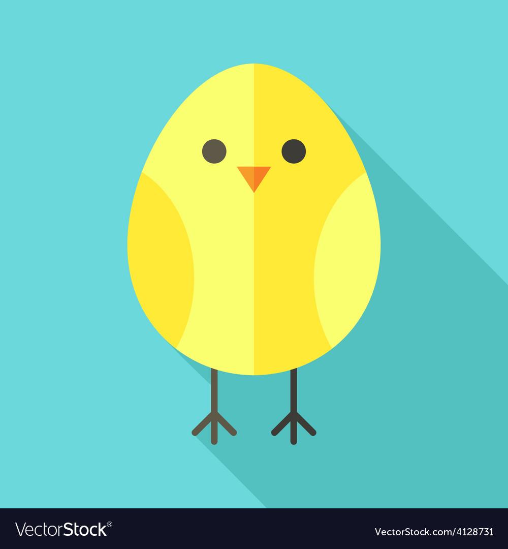 Yellow bird chicken vector | Price: 1 Credit (USD $1)