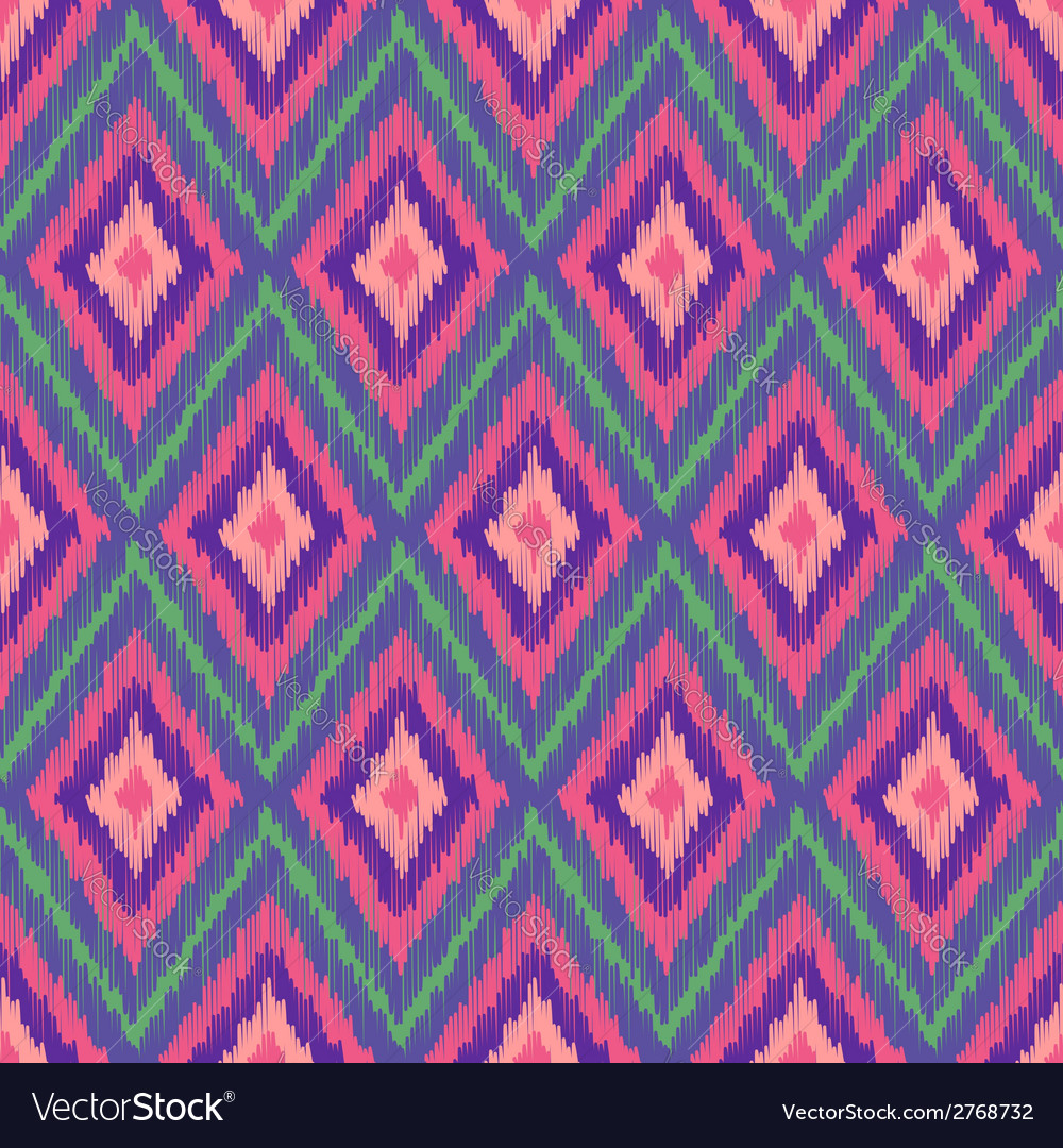 Abstract modern ethnic seamless fabric pattern vector | Price: 1 Credit (USD $1)