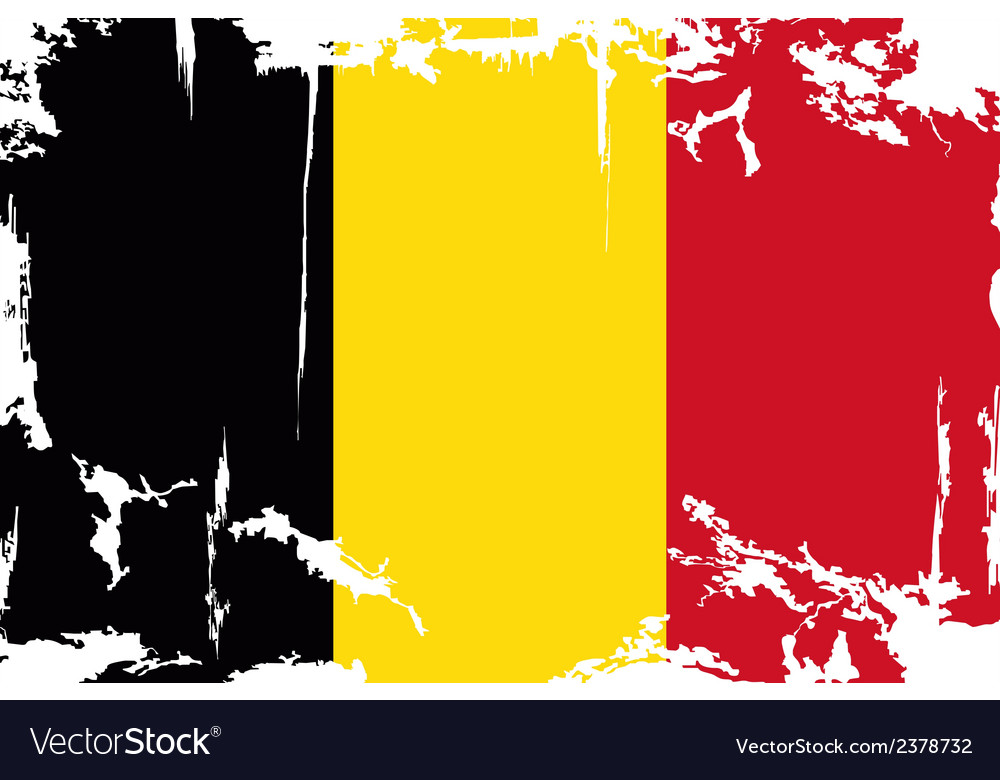 Belgian grunge flag vector | Price: 1 Credit (USD $1)