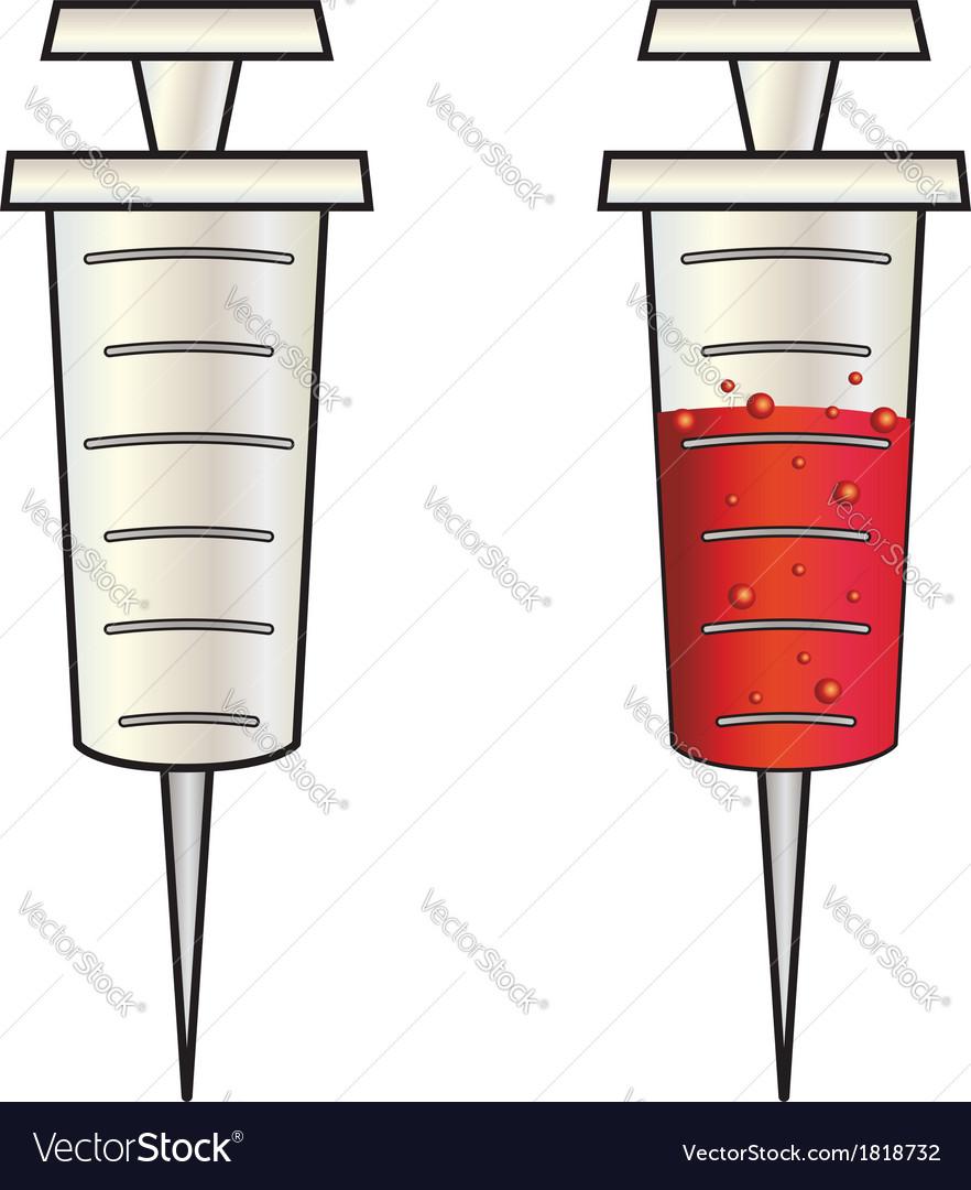 Cartoon syringe vector | Price: 1 Credit (USD $1)