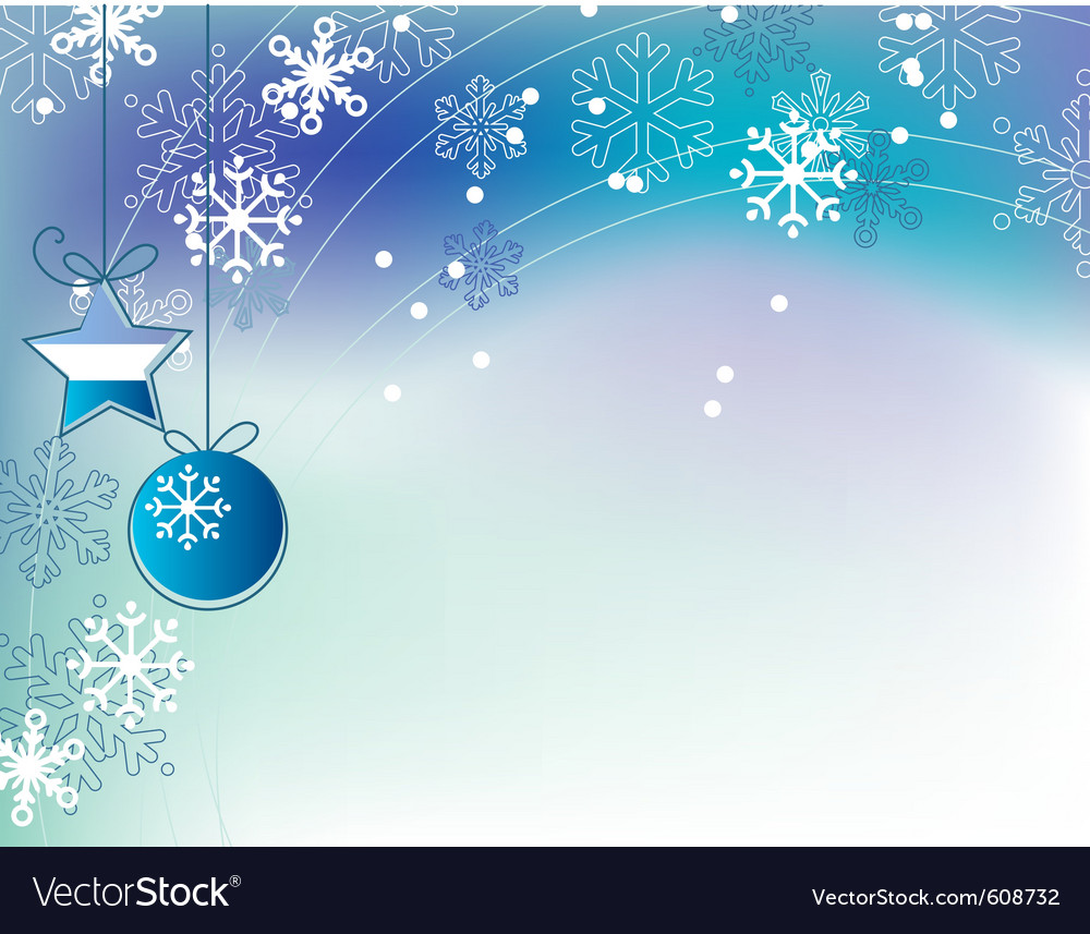 Christmas elegant blue background vector | Price: 1 Credit (USD $1)