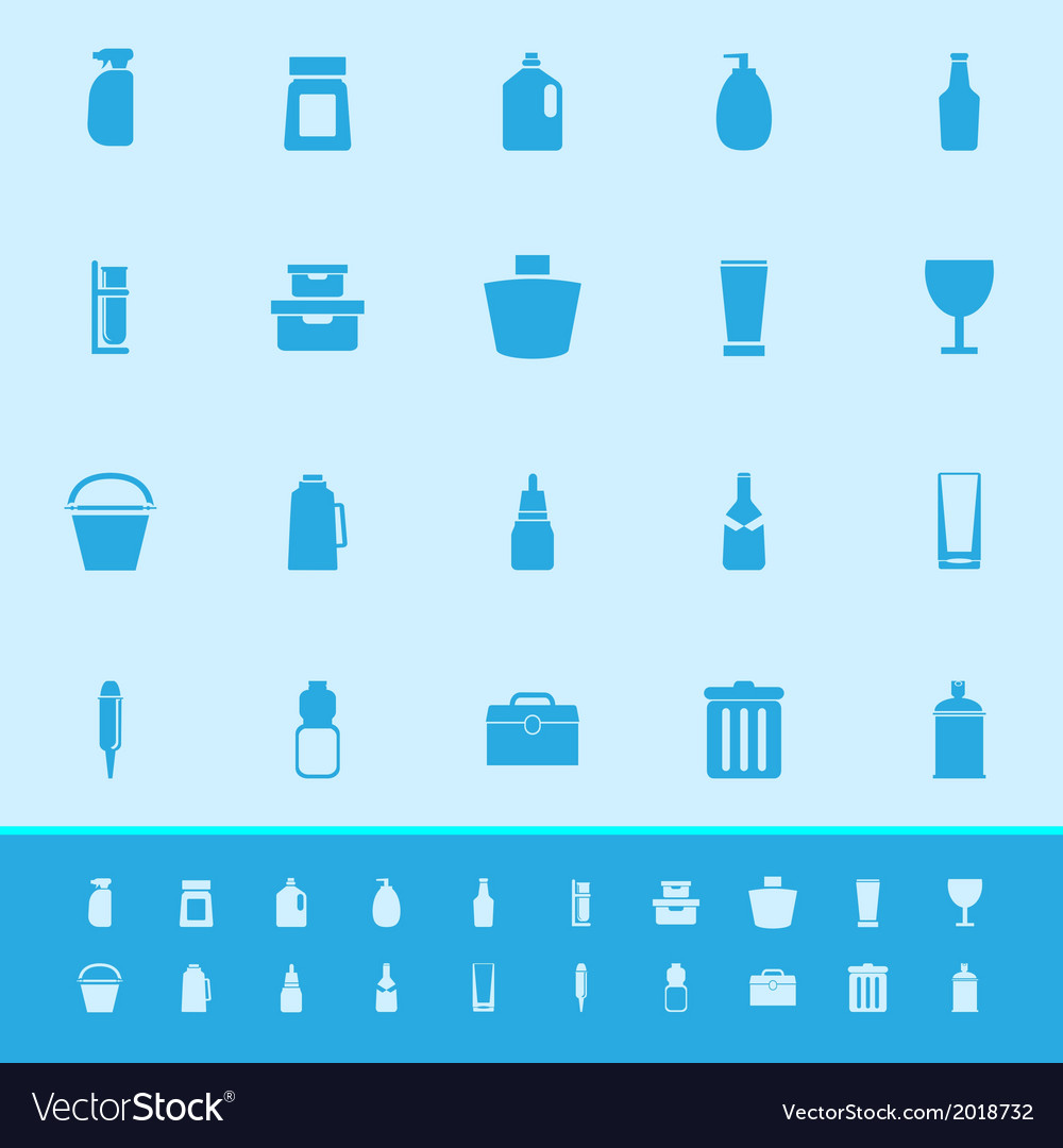 Design package color icons on blue background vector | Price: 1 Credit (USD $1)
