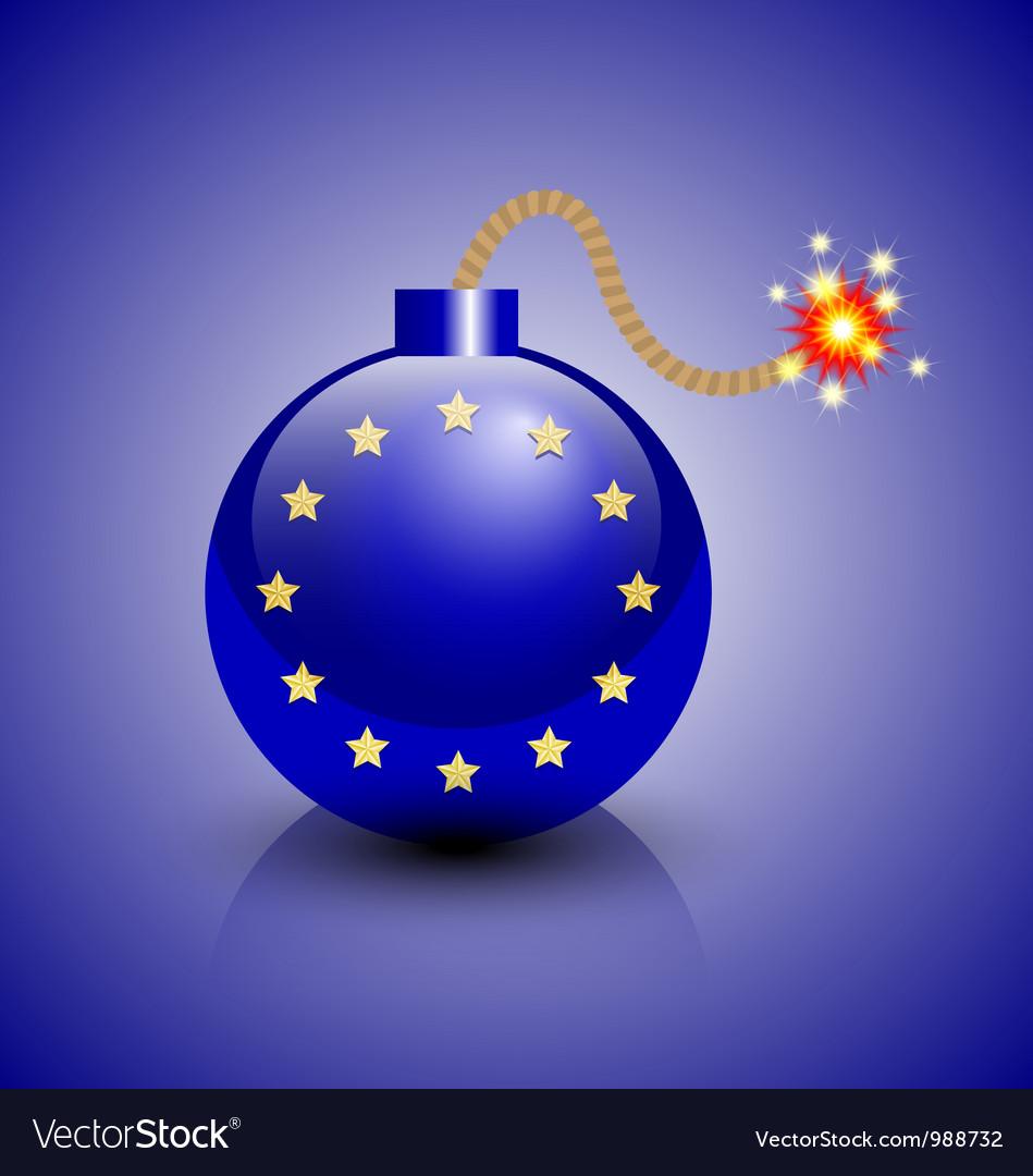 European crisis icon vector   Price: 1 Credit (USD $1)