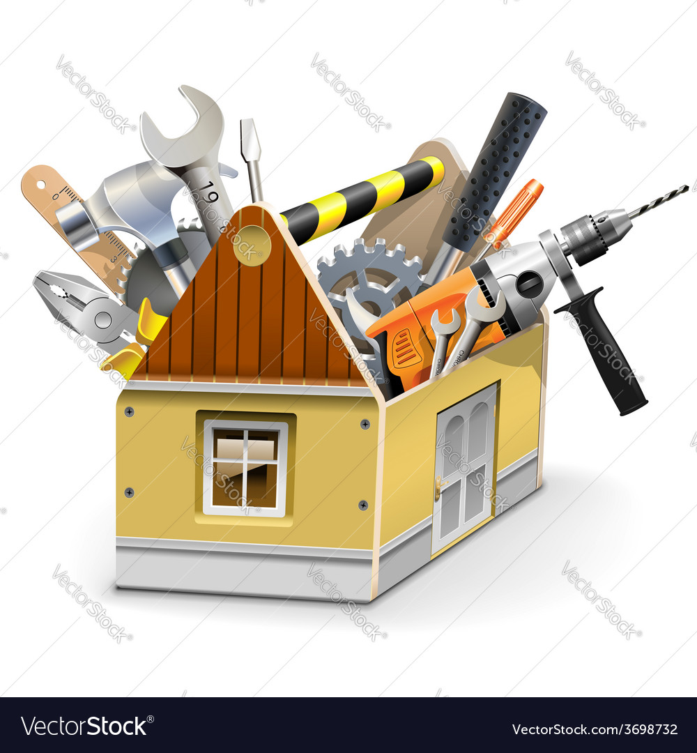 House toolbox vector | Price: 3 Credit (USD $3)