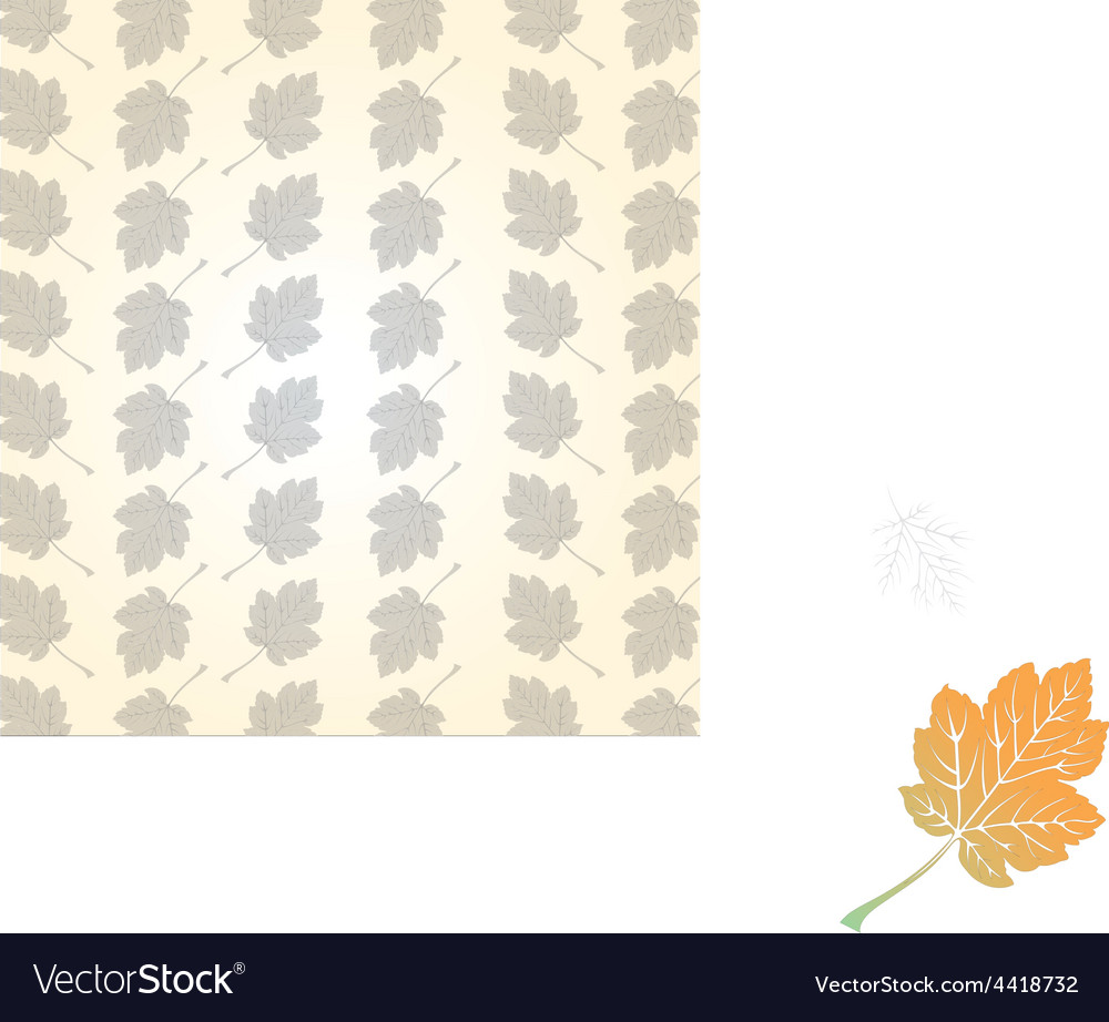 Leaf group background vector | Price: 1 Credit (USD $1)