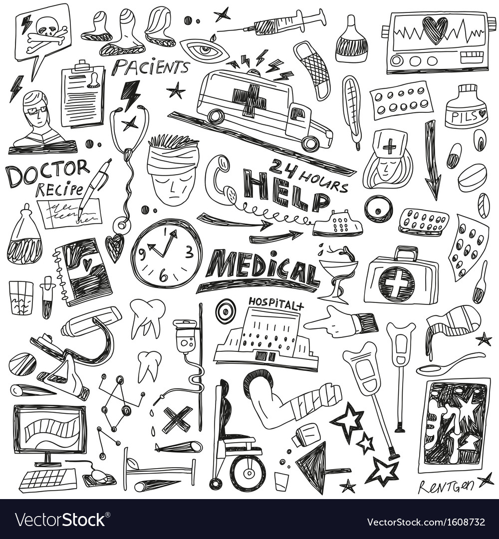 Medicine - doodles set vector | Price: 1 Credit (USD $1)