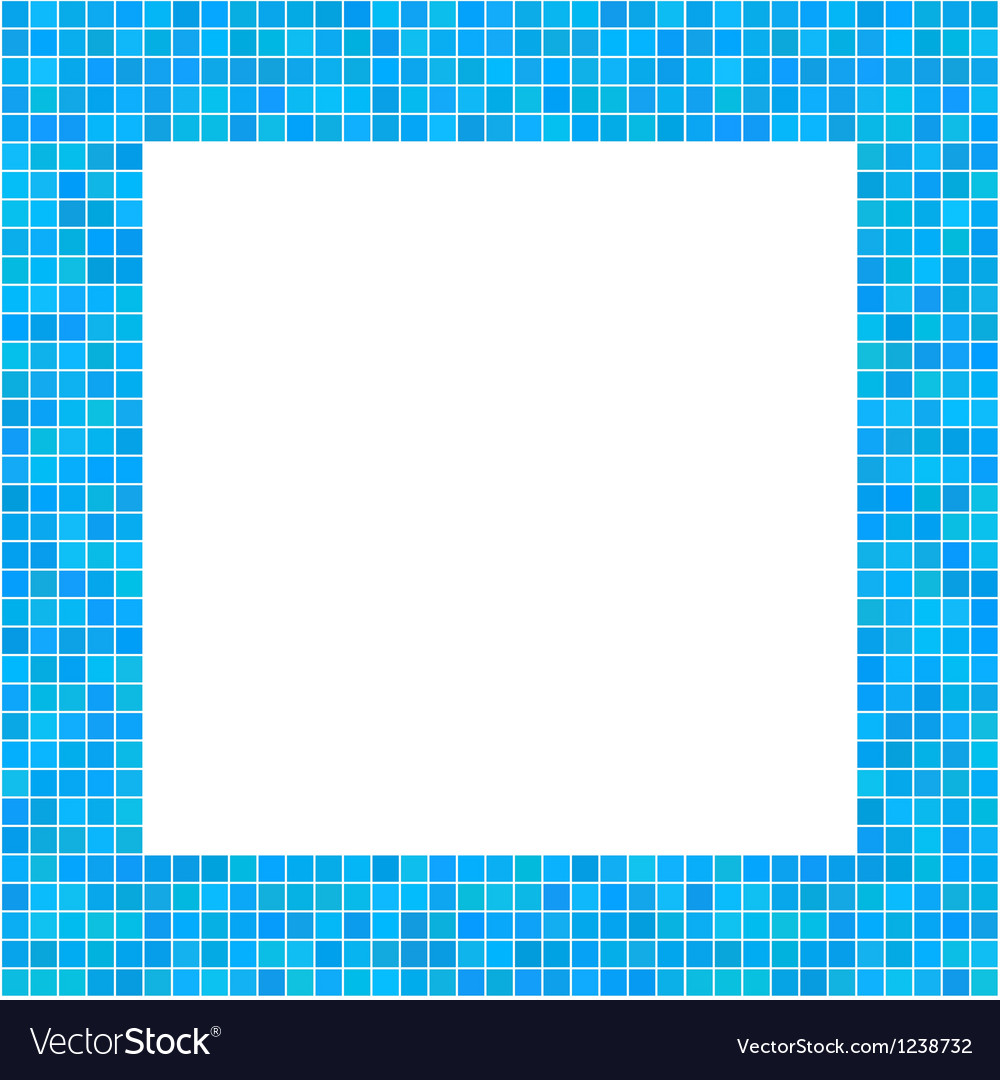 Mosaic frame blue vector | Price: 1 Credit (USD $1)