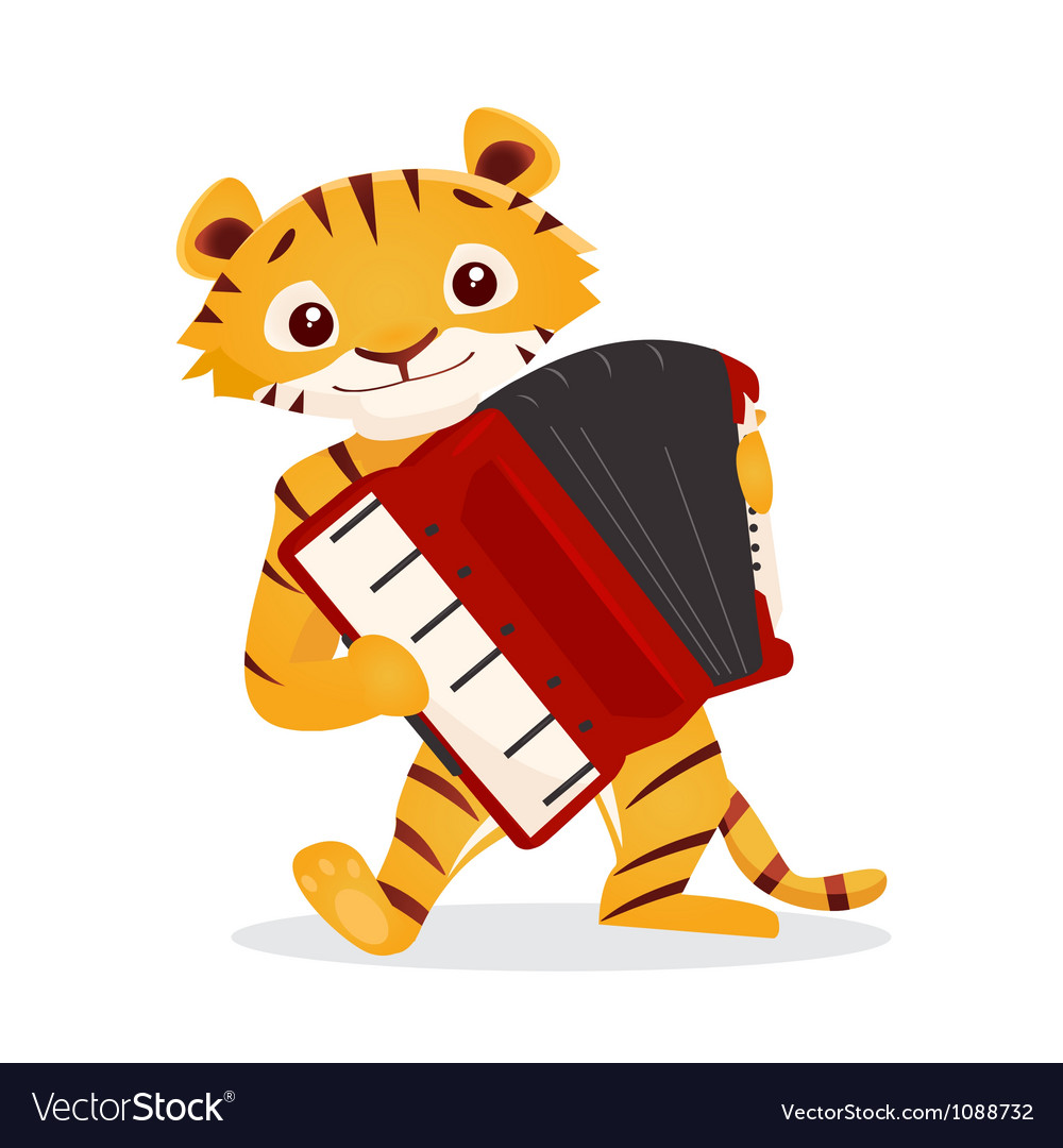 Musical animals vector | Price: 1 Credit (USD $1)