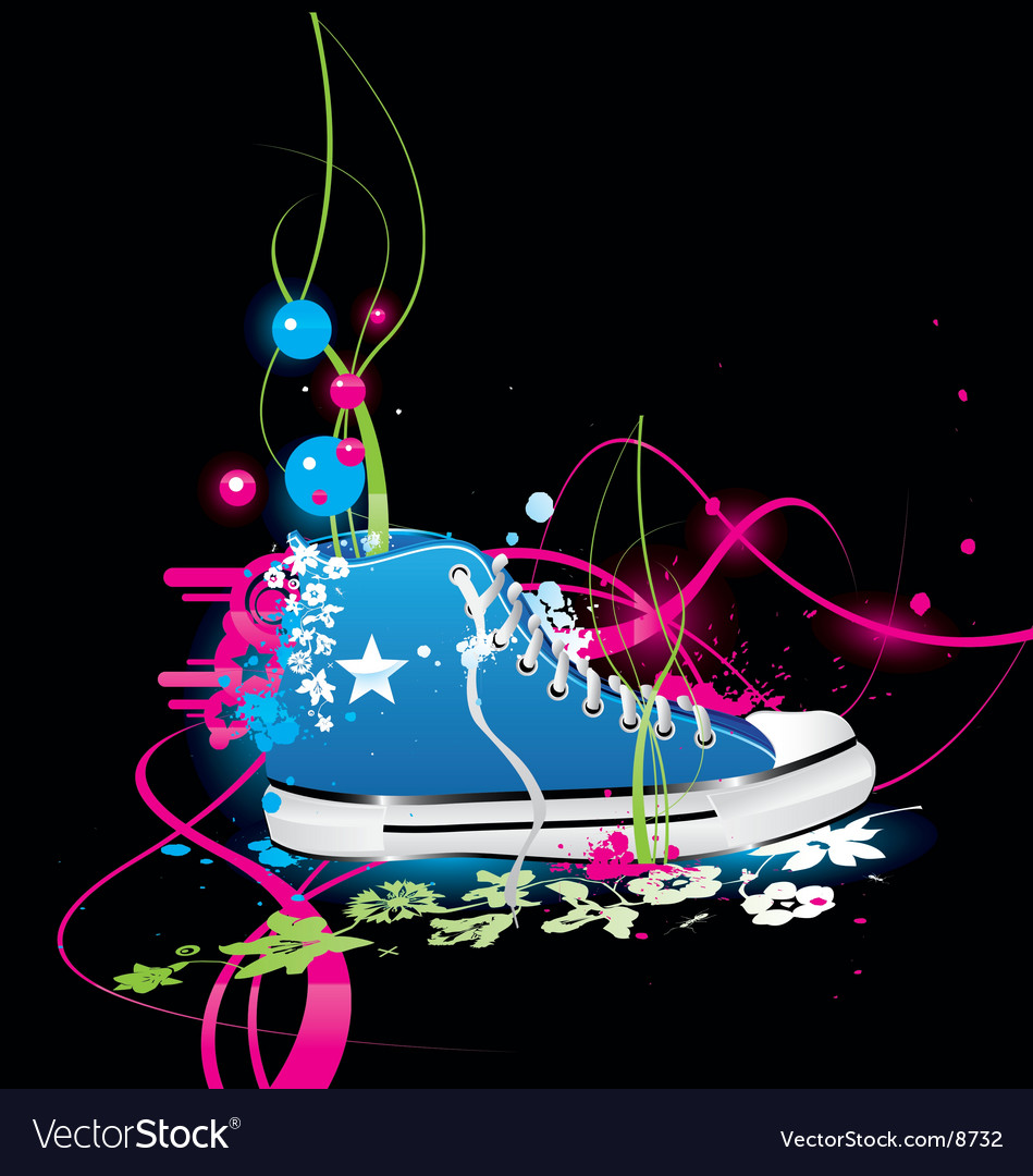 Sneakers gym-shoes vector | Price: 3 Credit (USD $3)
