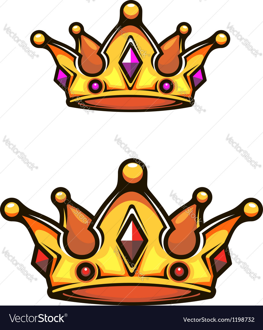 Vintage heraldic crown vector | Price: 1 Credit (USD $1)