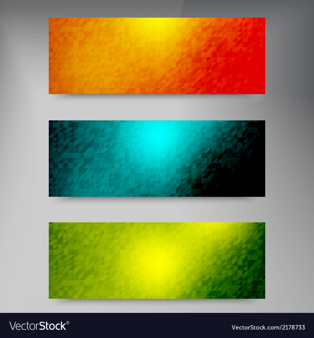 Banners and squares color set vector | Price: 1 Credit (USD $1)