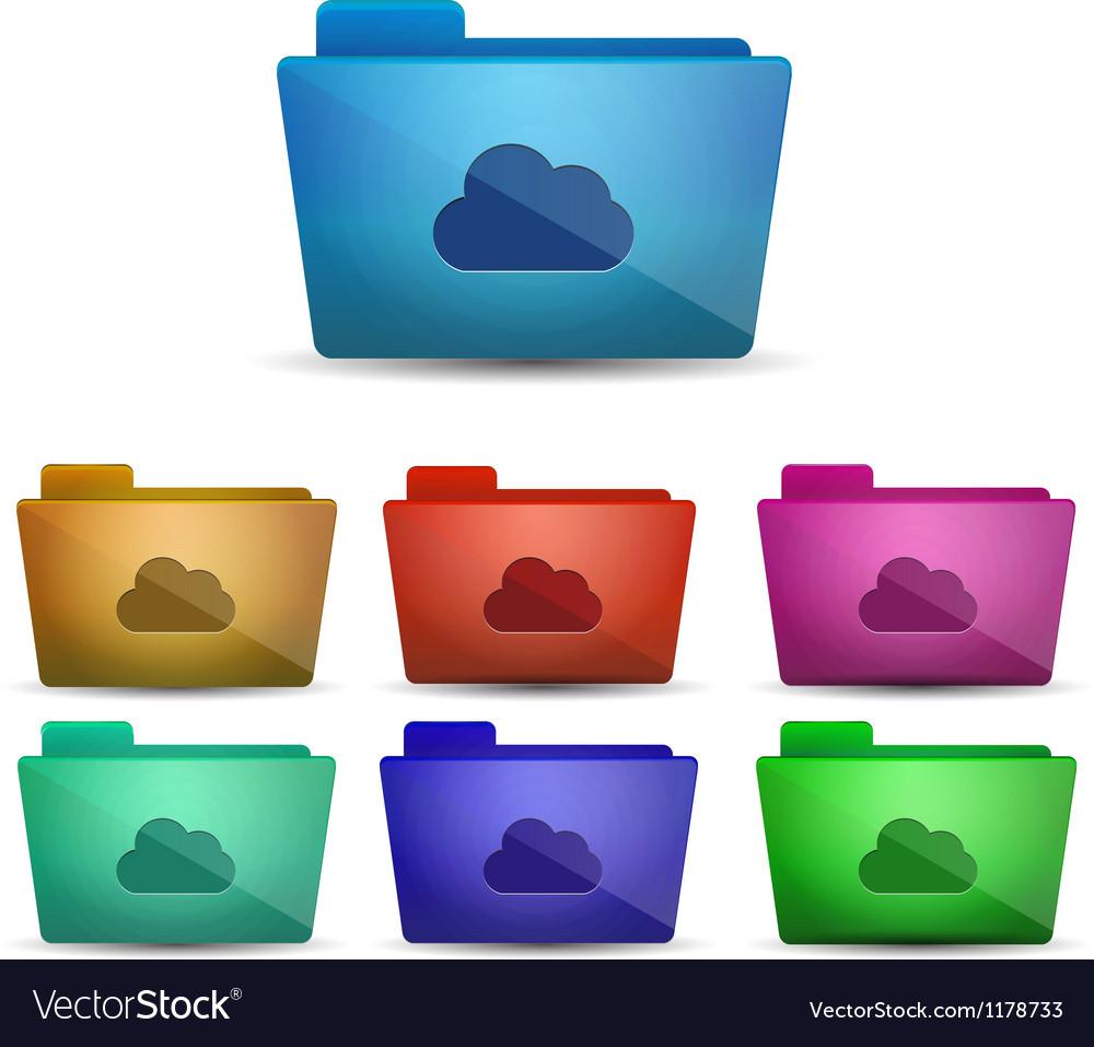 Cloud folder vector | Price: 1 Credit (USD $1)