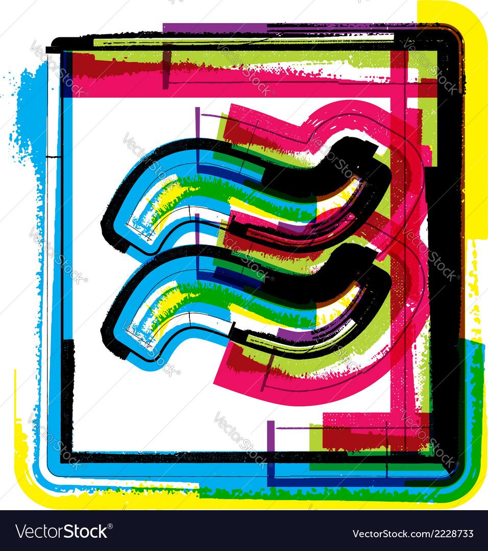 Colorful grunge symbol vector   Price: 1 Credit (USD $1)