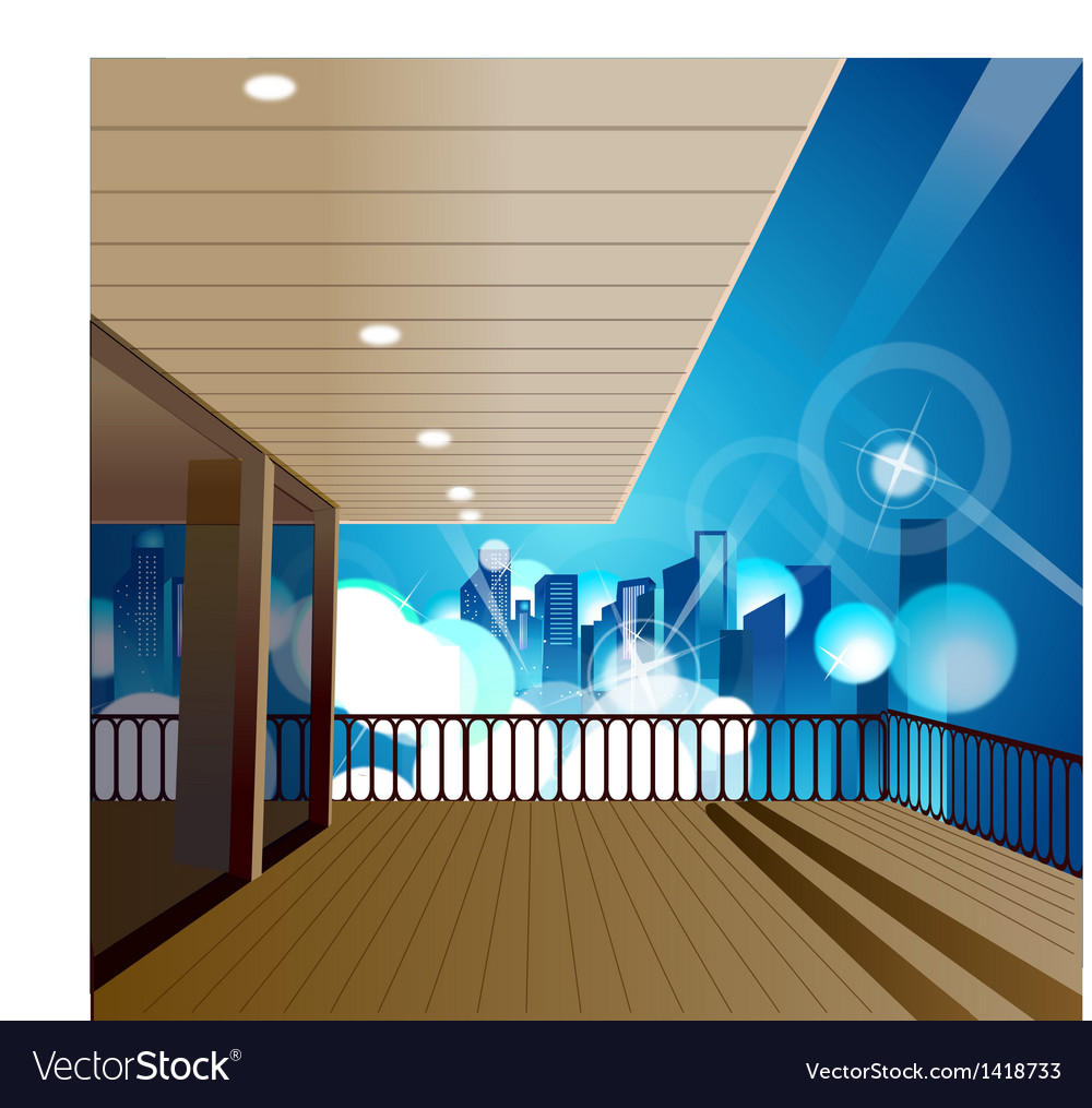 Deck cityscape scene vector | Price: 1 Credit (USD $1)
