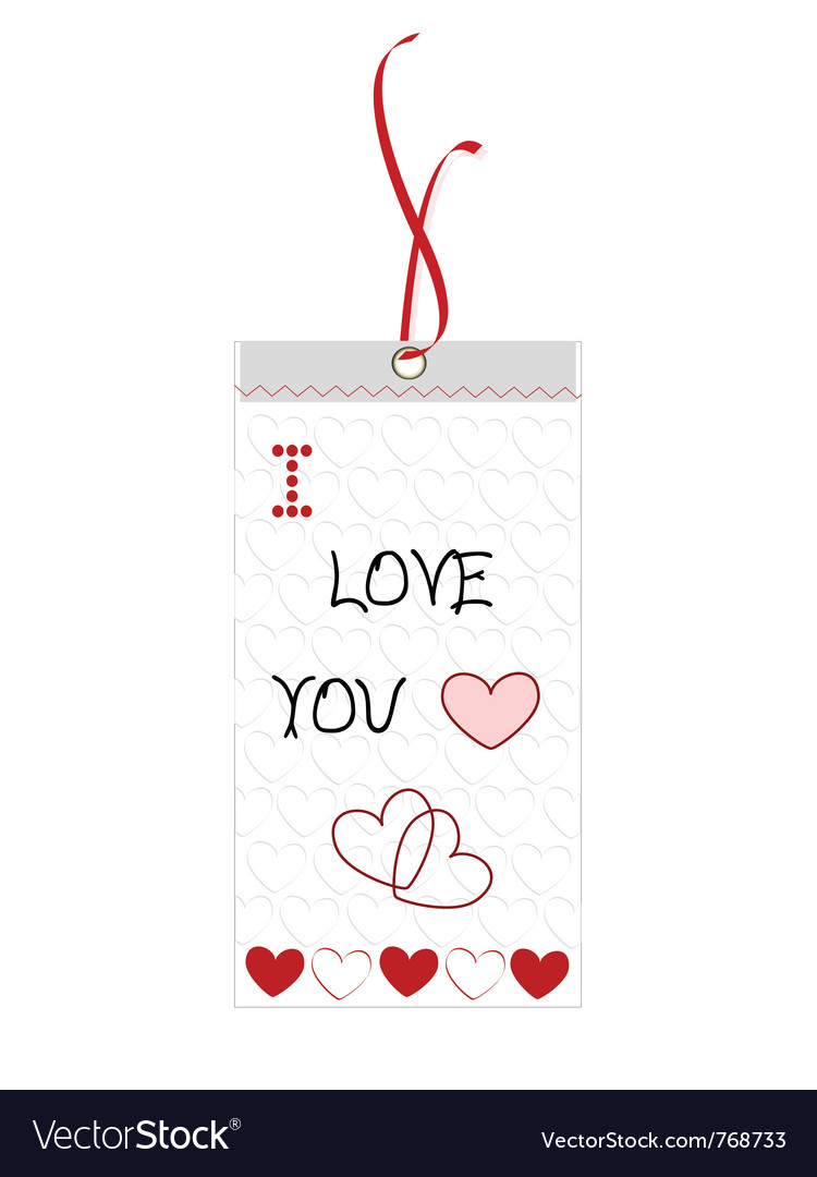 I love you bookmark vector | Price: 1 Credit (USD $1)
