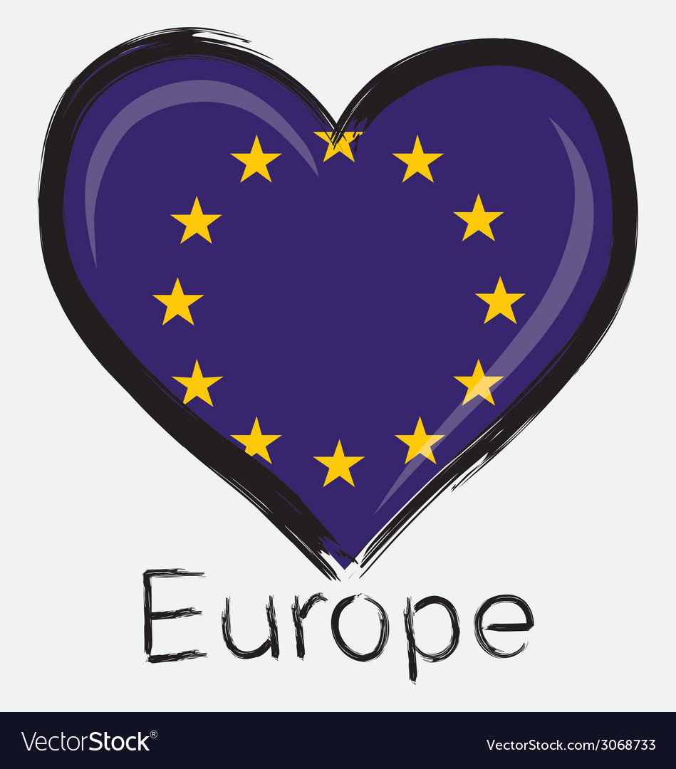 Love europe flag vector | Price: 1 Credit (USD $1)