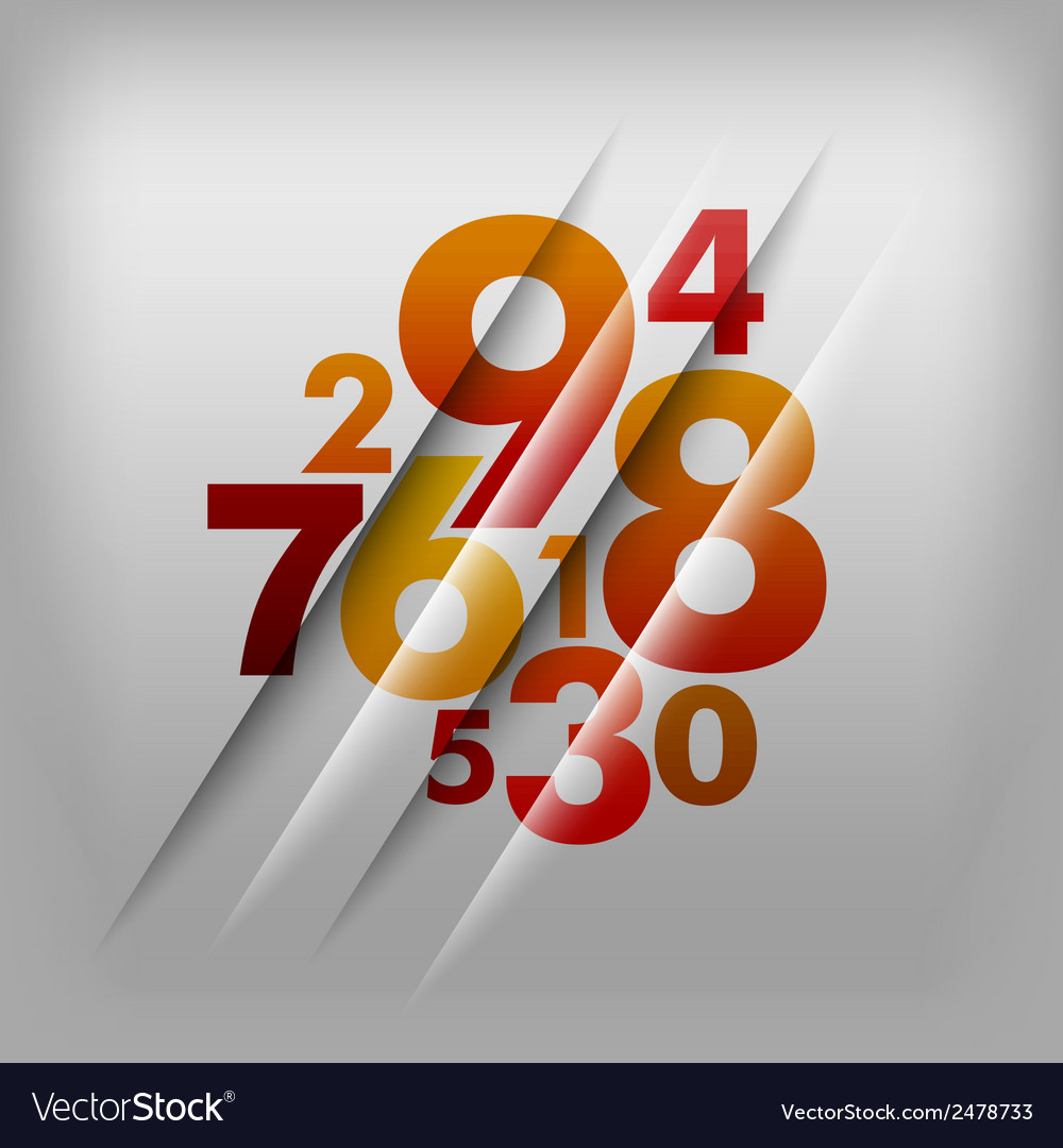 Numbers red vector | Price: 1 Credit (USD $1)